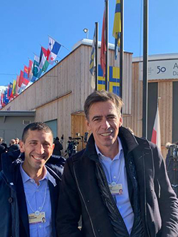 Rob Rakowitz and Stephan Loerke of the WFA at Davos debuting GARM as a Lighthouse Project by The World Economic Forum.